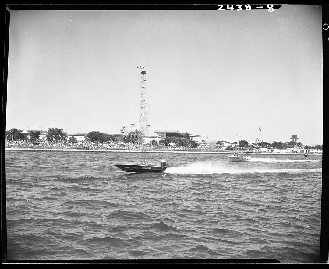 Speed Boat Racing At CNE Waterfront, circa 1960