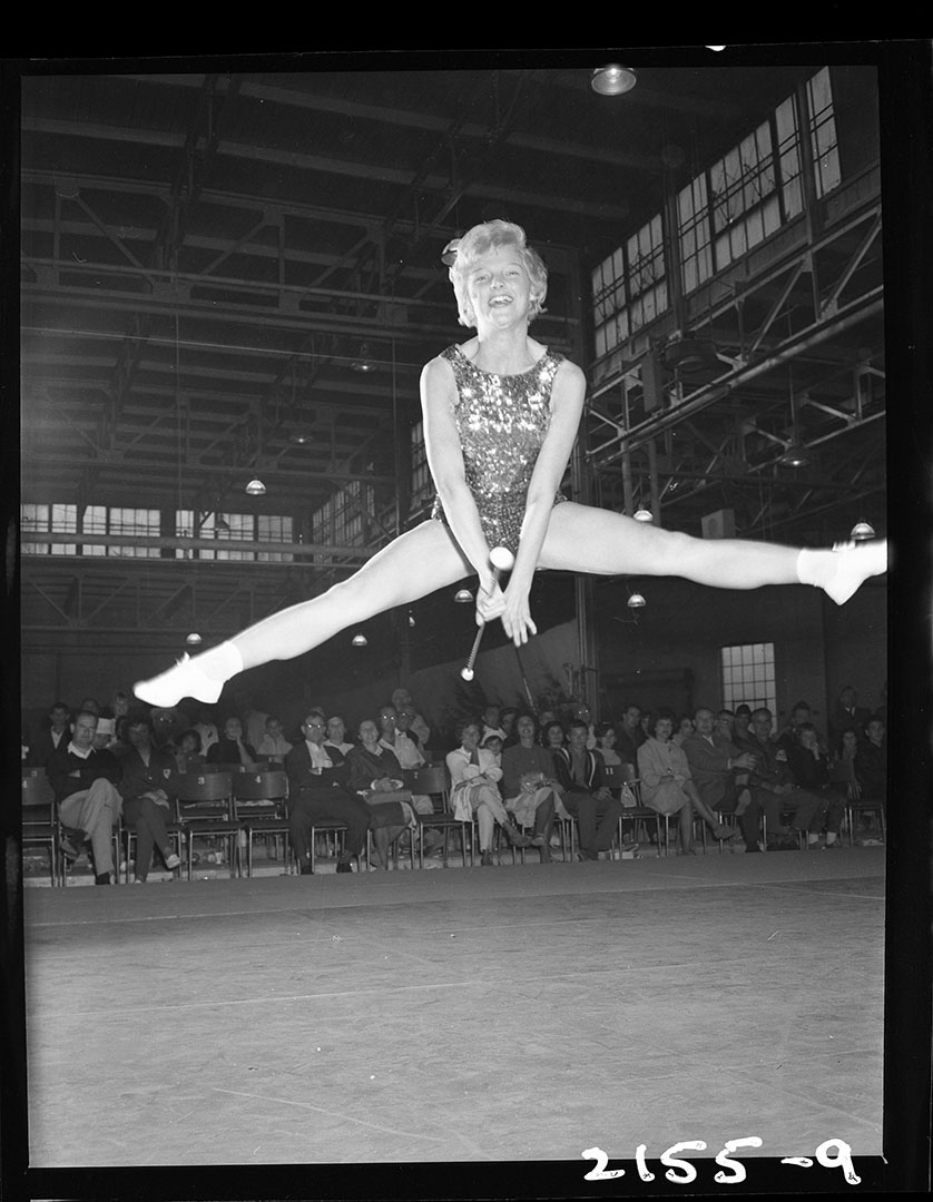 Gymnastic Performance At The CNE In The 1960s