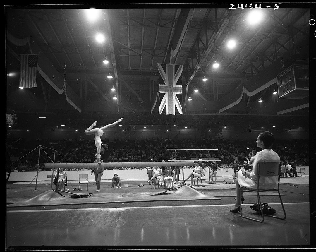 Gymnastic Balance Beam At The CNE, ca. 1960s