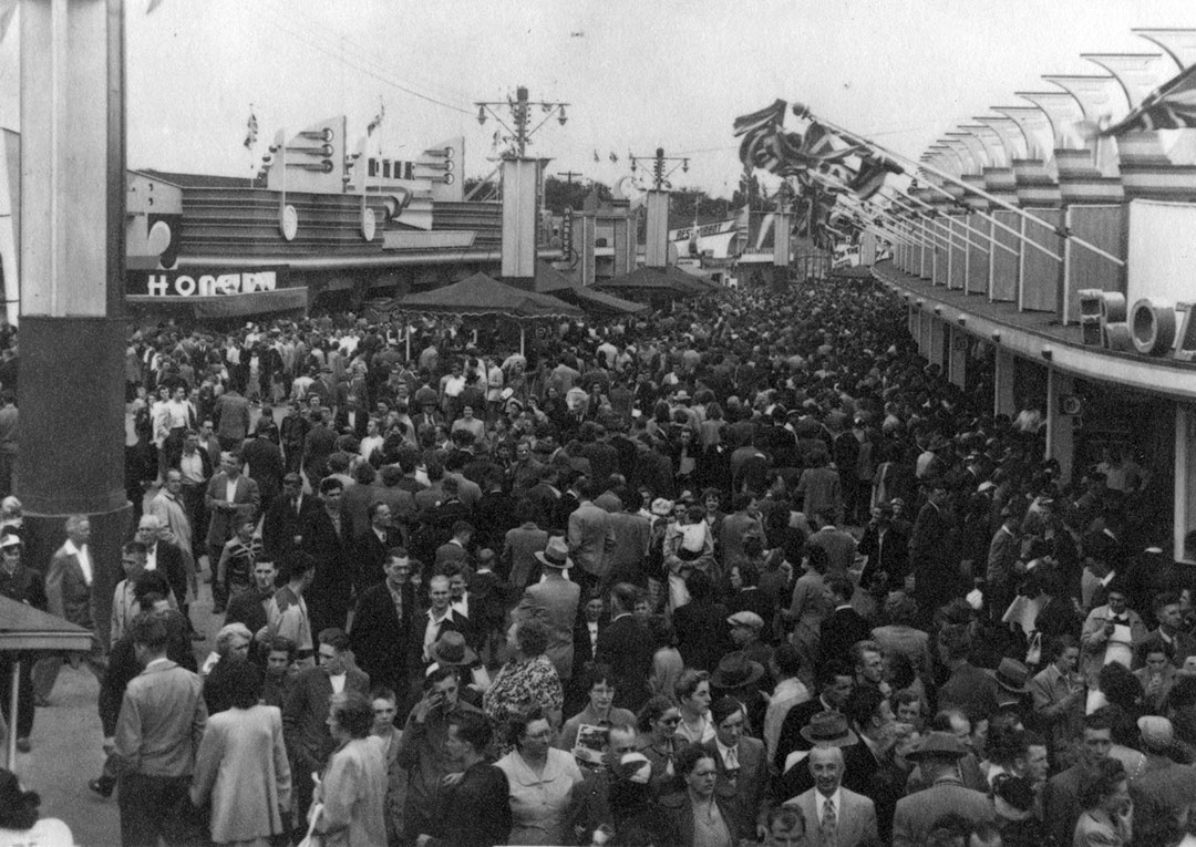 CNE Midway  and  Crowds, ca. 1960