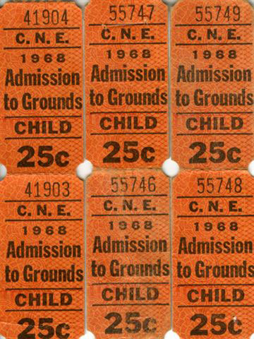 Admission Tickets, 1968