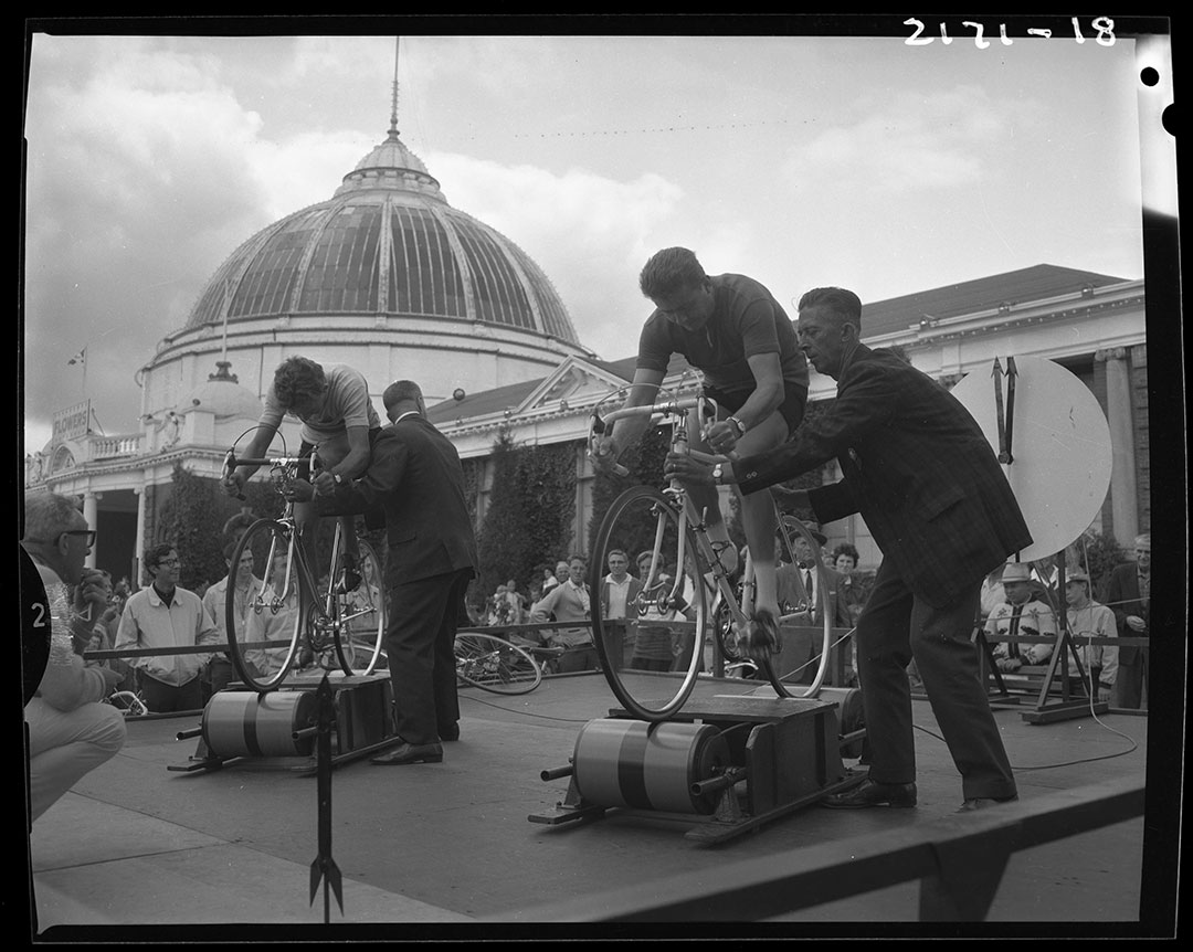 Cycling On Stationary Bikes In The 1960s