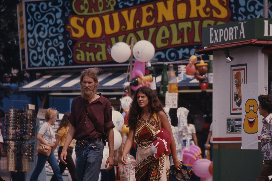 Hanging Out In The CNE Midway, 1974