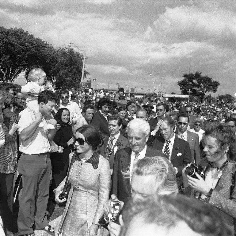 Margaret Trudeau And The Prime Minister At The CNE In 1972