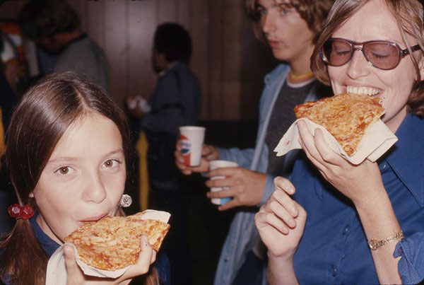 Enjoying Pizza At The CNE, 1974