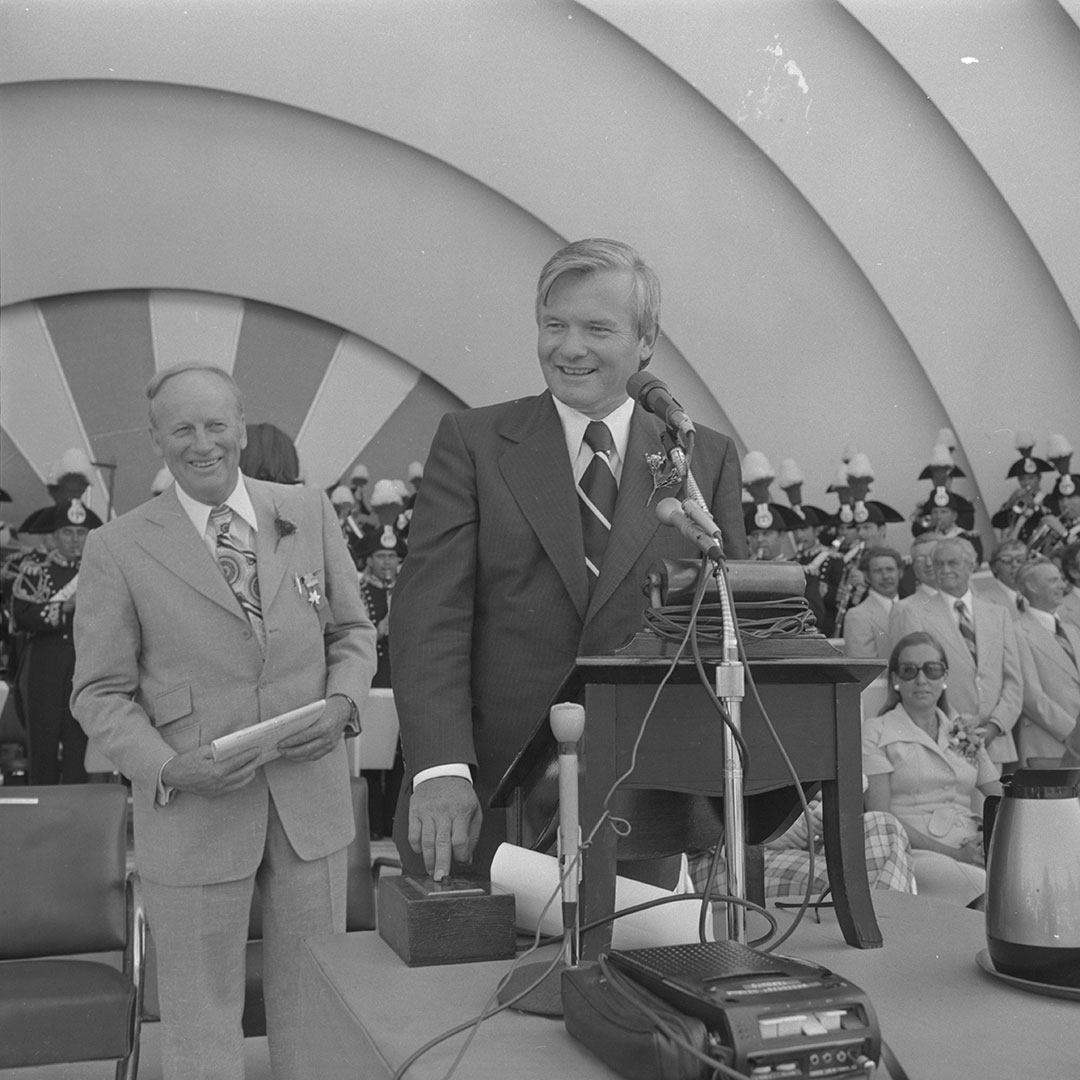Ontario Premier Bill Davis Opening The Fair In 1974