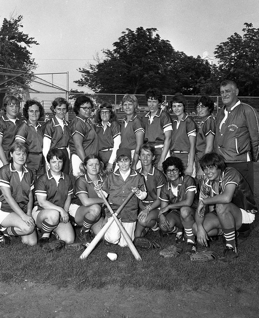Womens' Softball Team, 1972