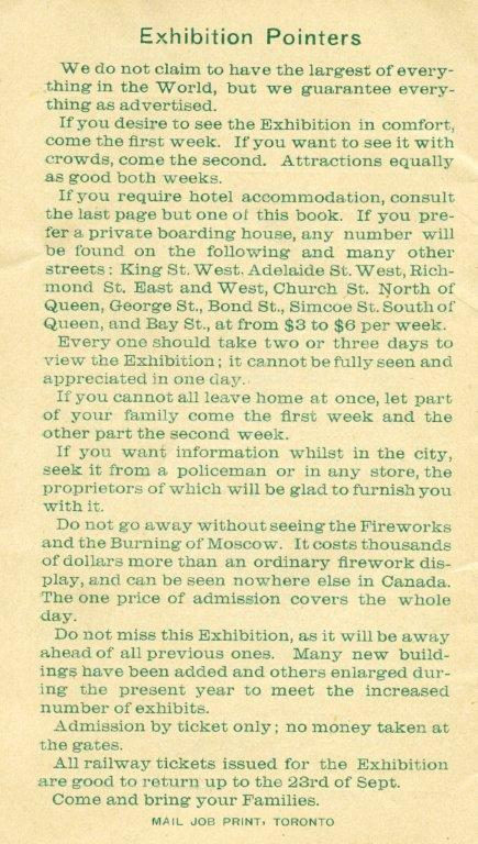 Tips For Attending The 1889 Exhibition