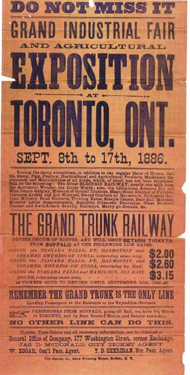 1886 Grand Trunk Railway Poster