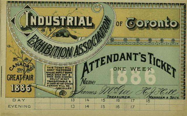 1886 Ticket To The Fair
