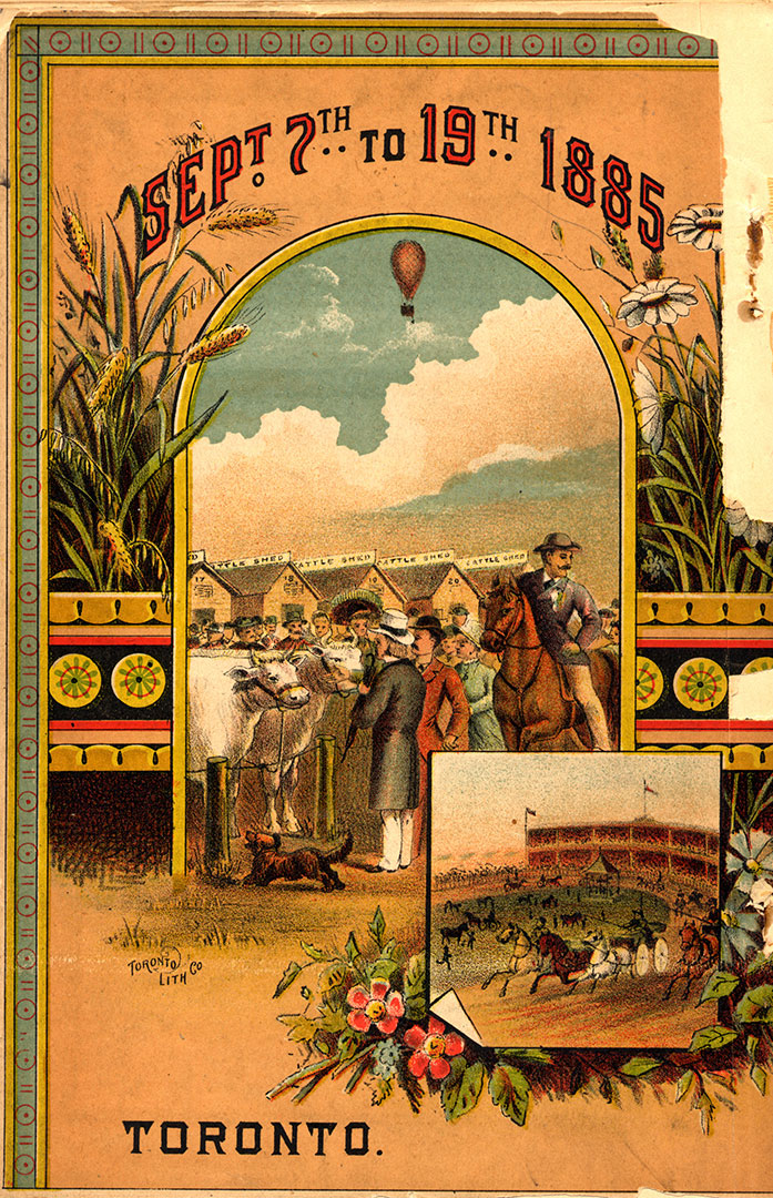 1885 Prize List Back Cover