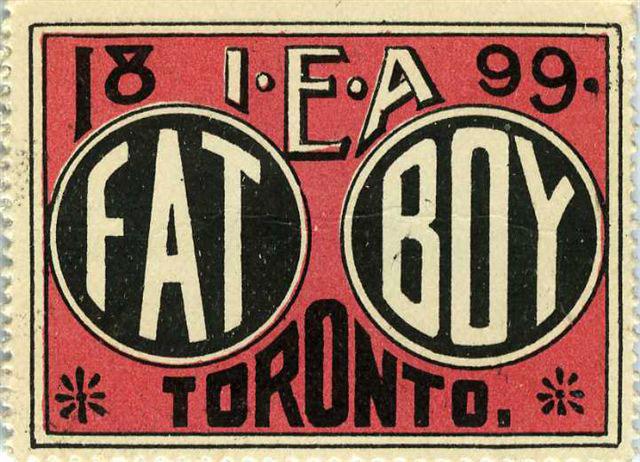 1899 Ticket To See The Fat Boy