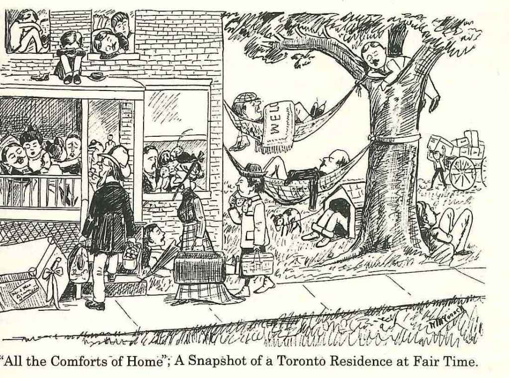 1902 Saturday Night Cartoon About Accomodation