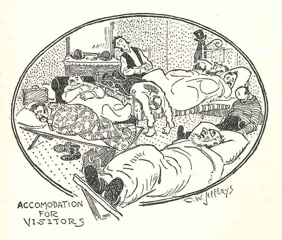 1903 Star Cartoon About Crowded Hotel Room