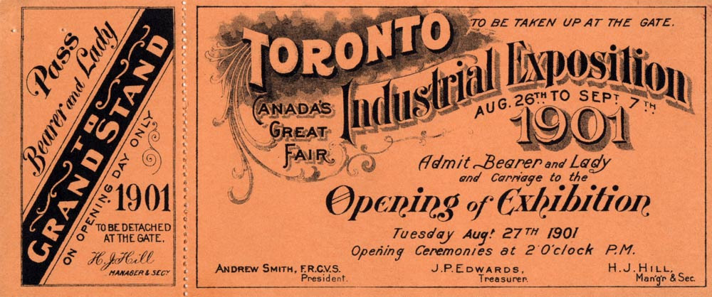 Ticket To The Opening Of The 1901 Exhibition