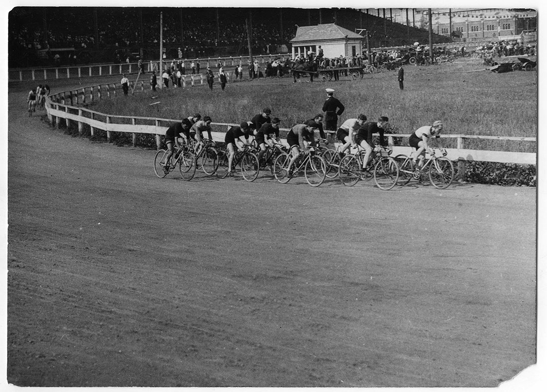 Bicycle Race At The Grand Stand, 1906