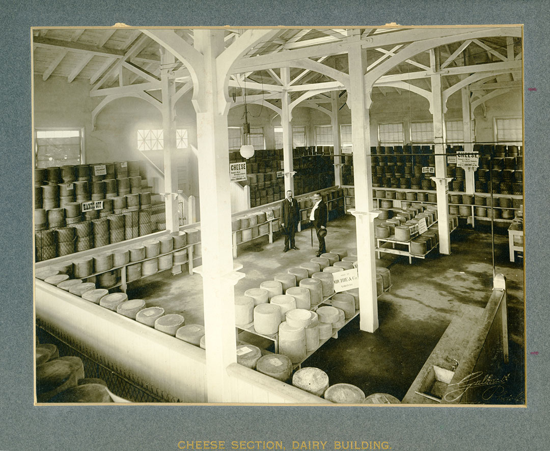 Cheese In The Dairy Building, 1906