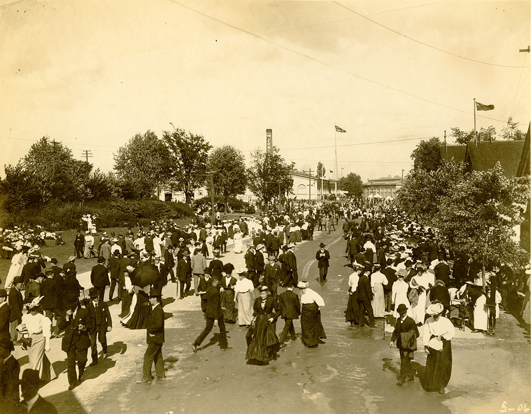Crowds Outside Machinery Hall, 1906