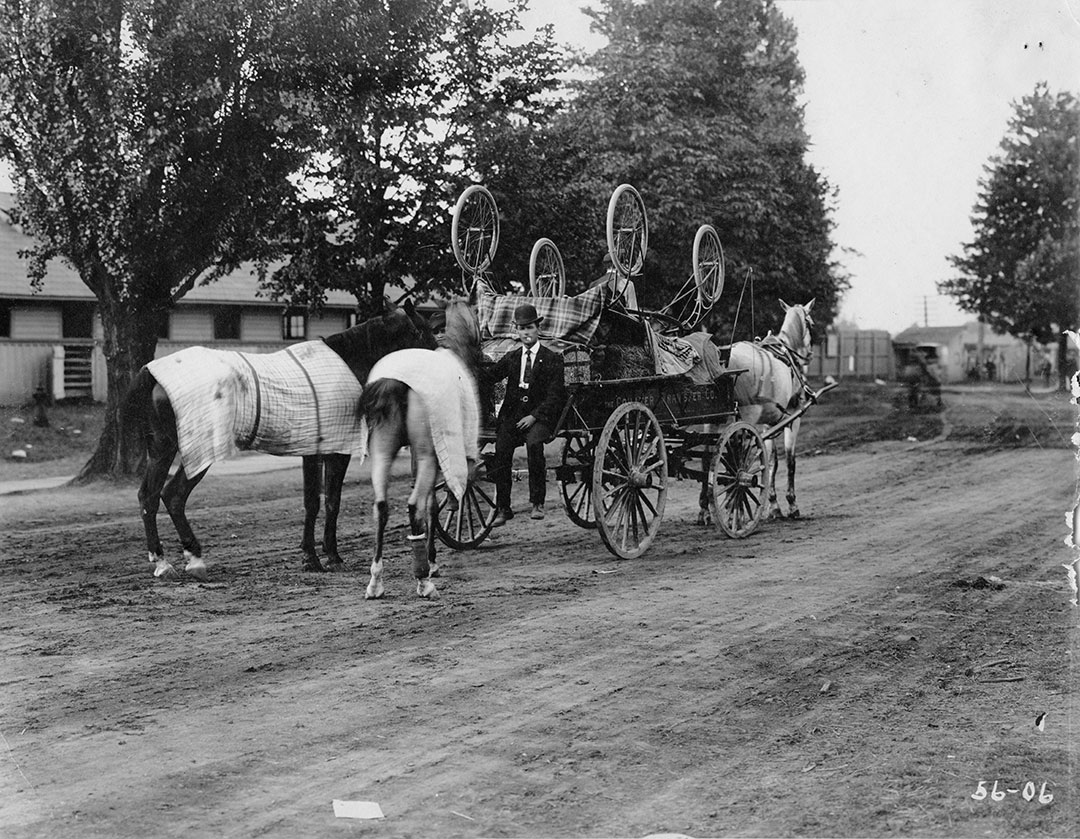 Man And Wagon Coulter Transfer  In 1906