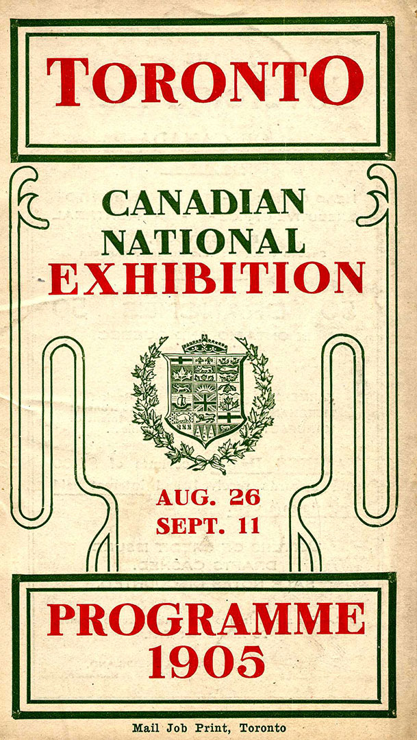 1905 Exhibition Programme Cover