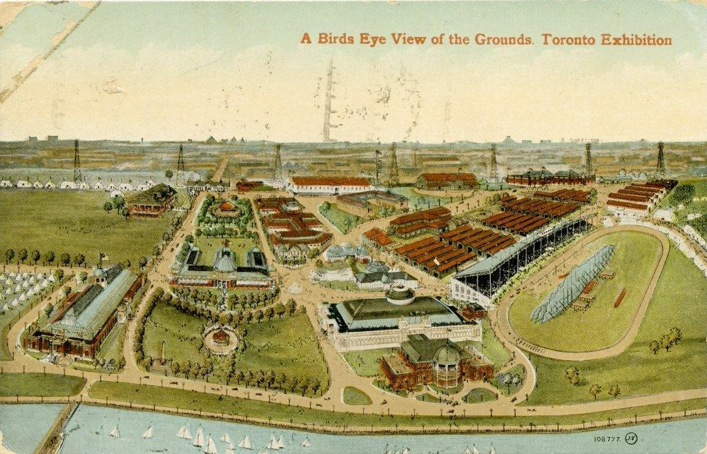 Aerial View Of The Grounds, 1912