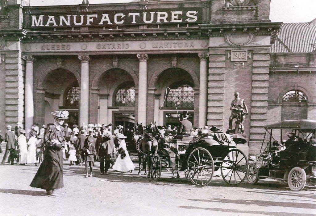 Outside The CNE Manufacturers Building, 1913