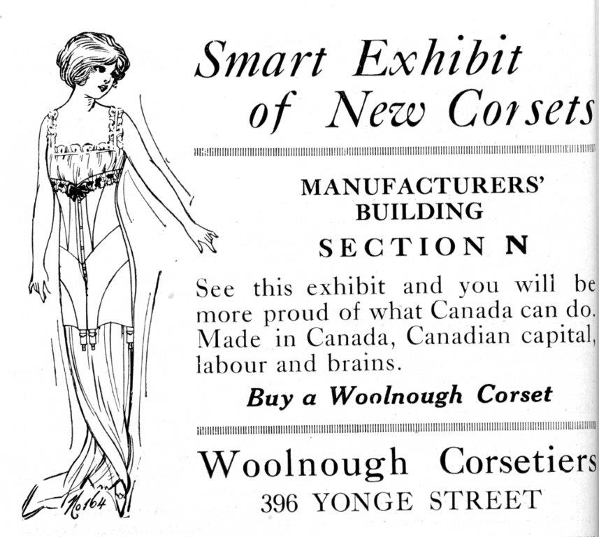 Woolnough Corset Ad In CNE Programme, 1916