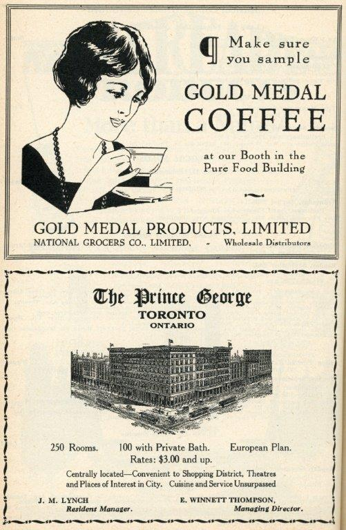 Coffee  and  Hotel Ads In 1929 Programme