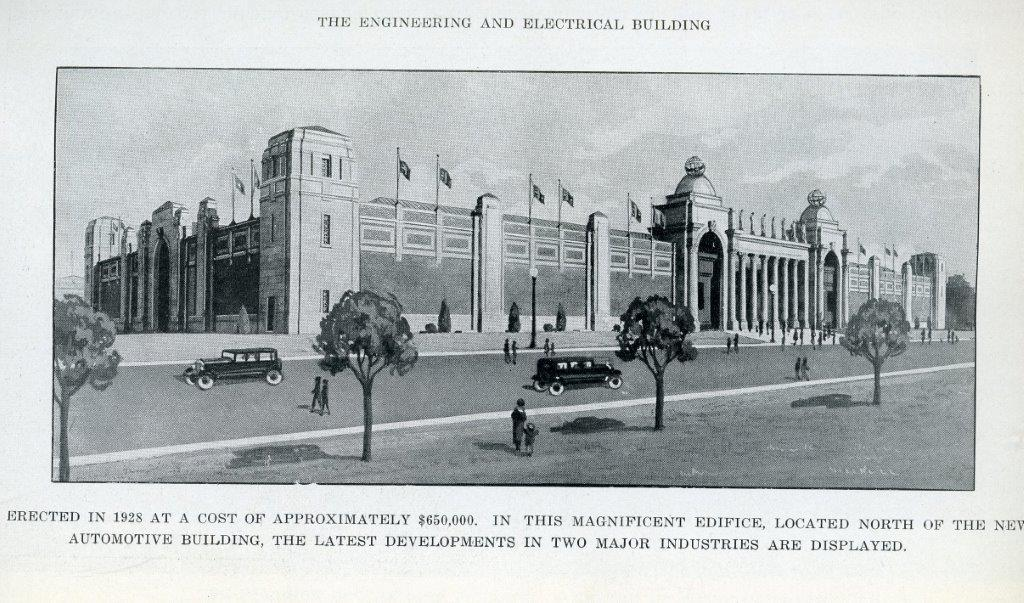 Engineering  and  Electrical Building In 1929 CNE Programme