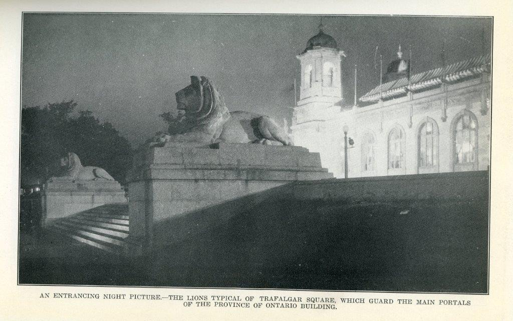 The Lions Sleep @ Night Outside The Ontario Building, 1929