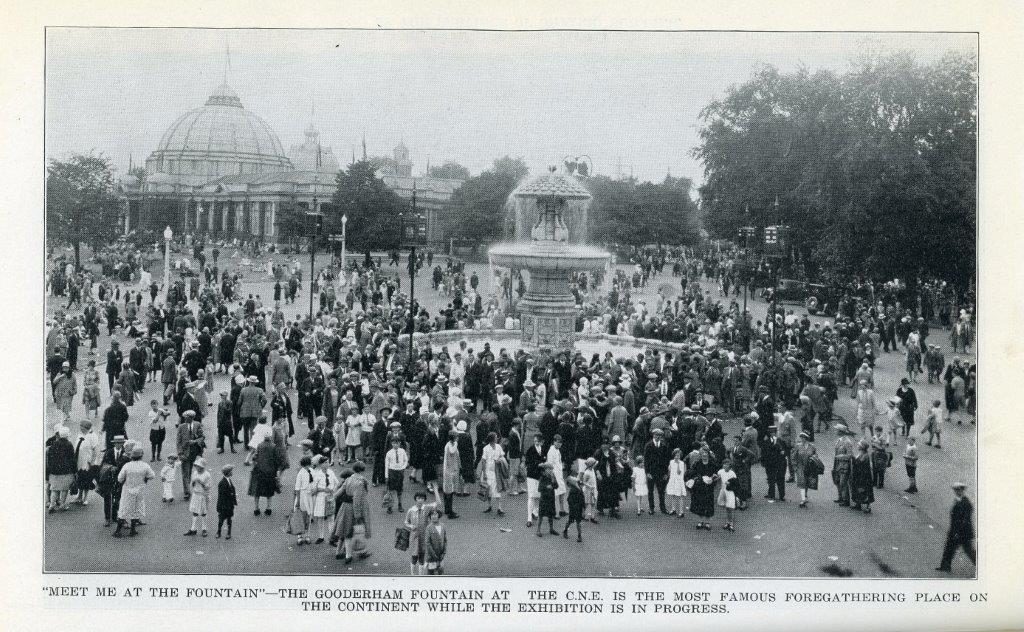 Picture Of Gooderham Fountain In 1929 Programme
