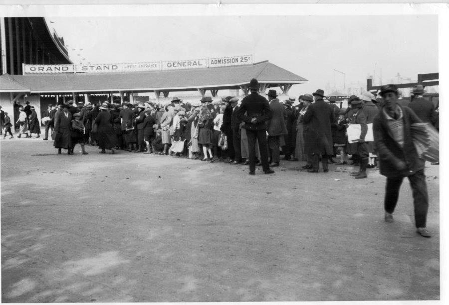 Waiiting In Line @ The Grand Stand, 1924