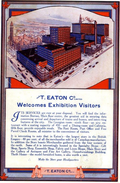 Eaton's Ad In CNE Programme, 1928
