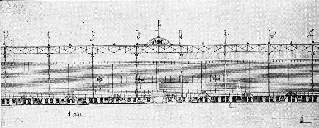 G.W. Gouinlock Sketch For The New Grand Stand, 1907