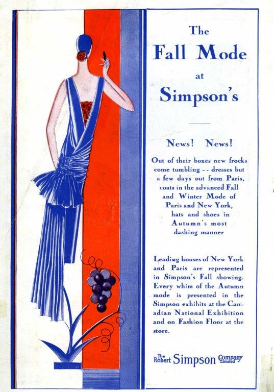 Simpson's Ad In CNE Programme, 1928