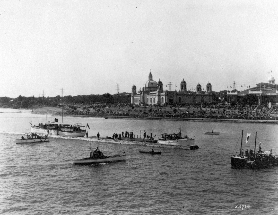Looking North To CNE From Lake Ontario, 1929