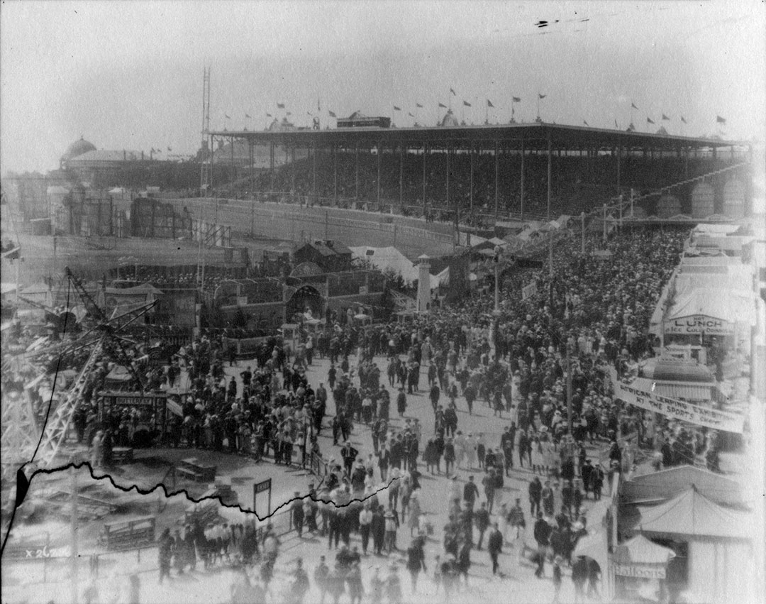 Midway  and  Grand Stand, 1923