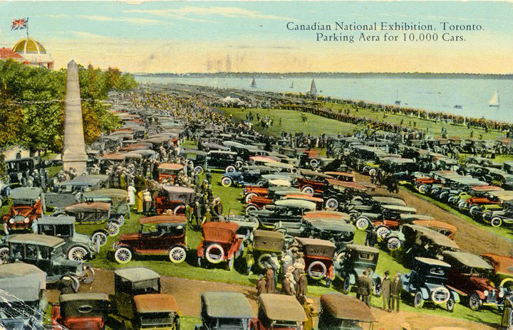1920 Postcard Promoting Parking 10,000 Cars