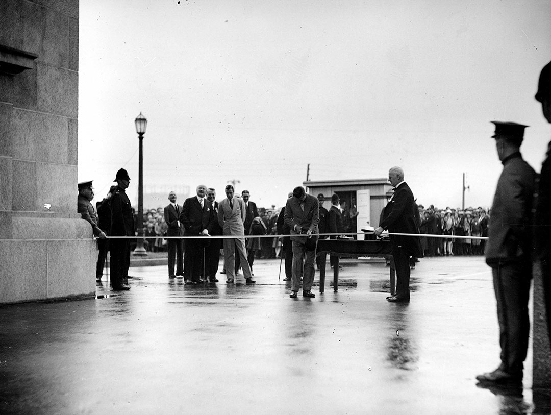 The Prince Of Wales Opening The Princes' Gates, 1927