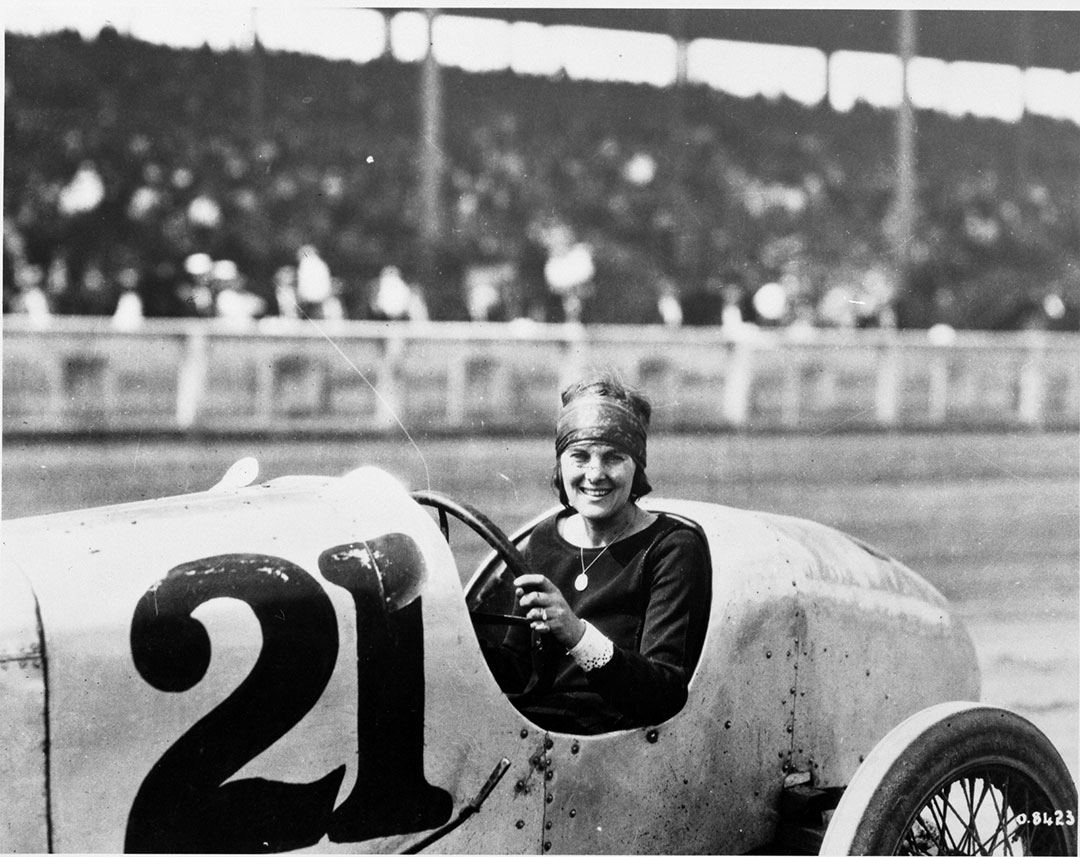 Woman In Race Car (Alfrieda Mais?), 1920s