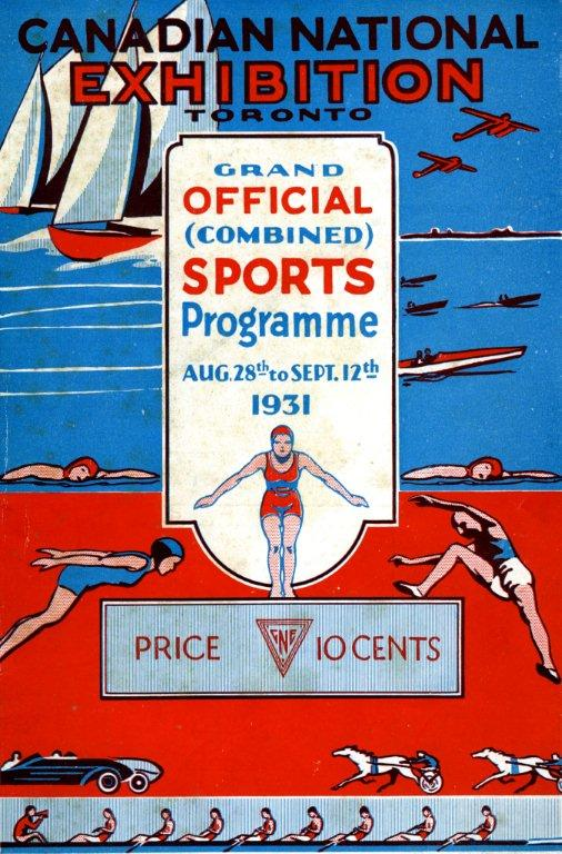 1931 CNE Sports Programme Cover