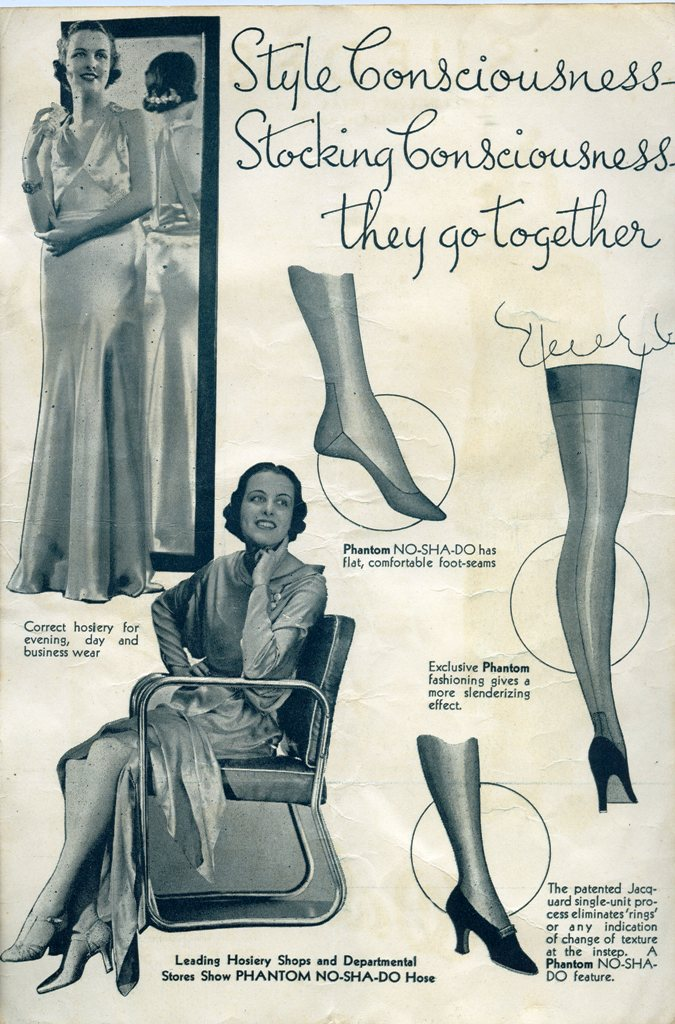 Hosiery Ad In 1935 CNE Fashion Show Programme