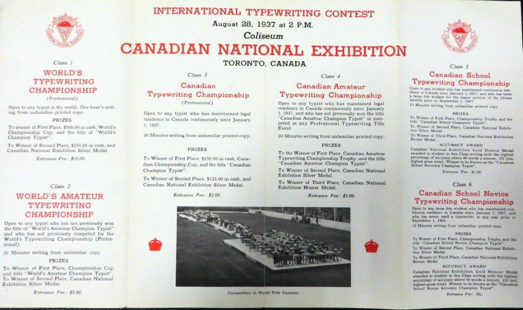 1937 Typewriting Competition Pamphlet (Inside Content)