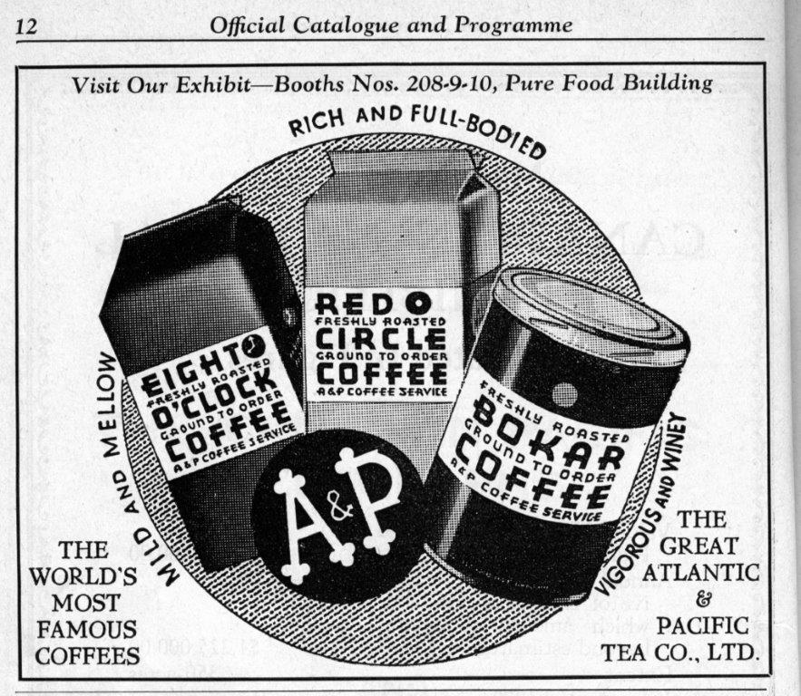 A  and  P Ad In CNE Programme, 1935
