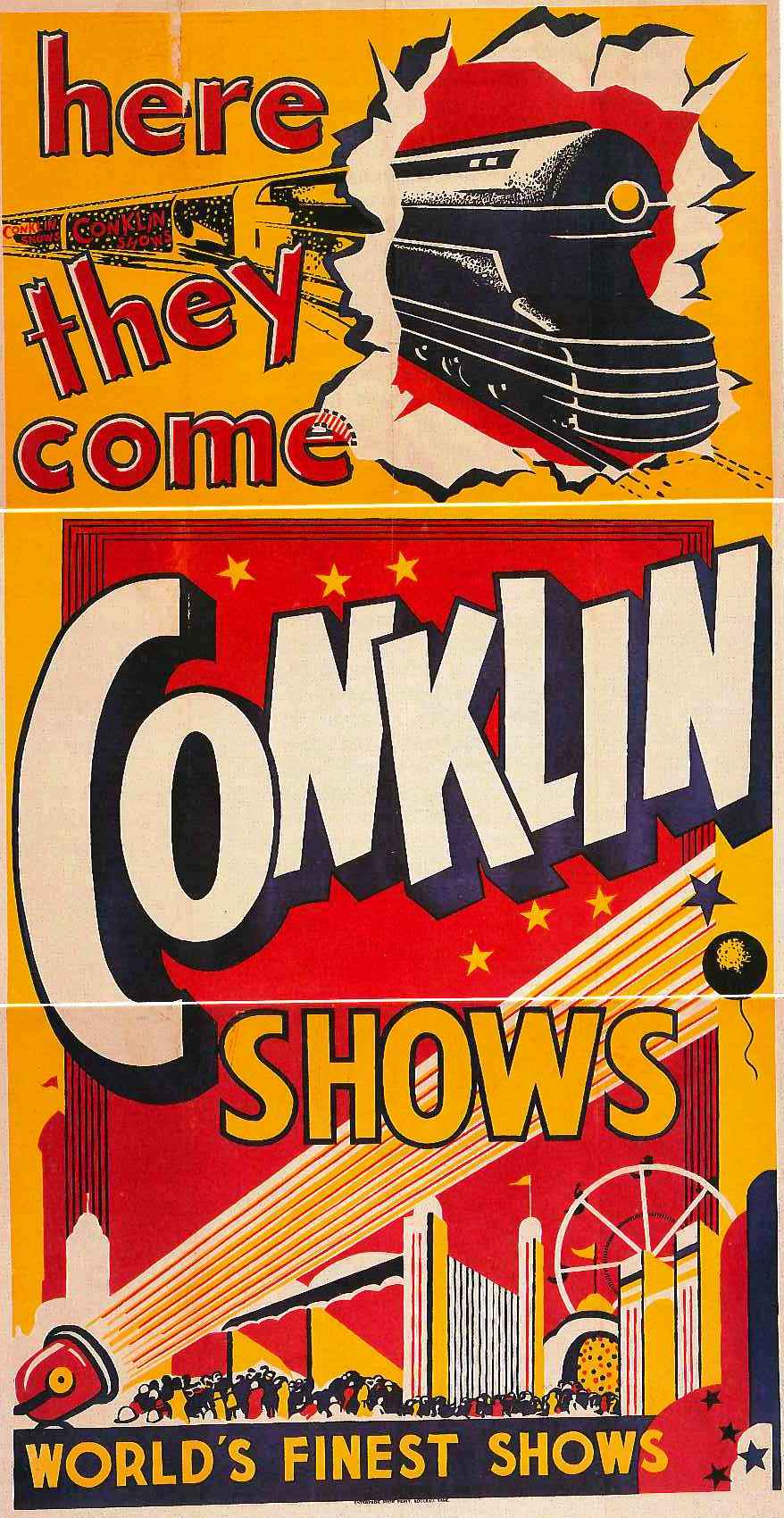 Conklin Shows Poster, circa 1940