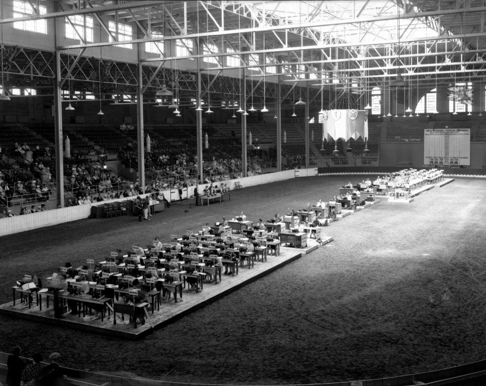 1936 CNE Typing Competition In The Coliseum