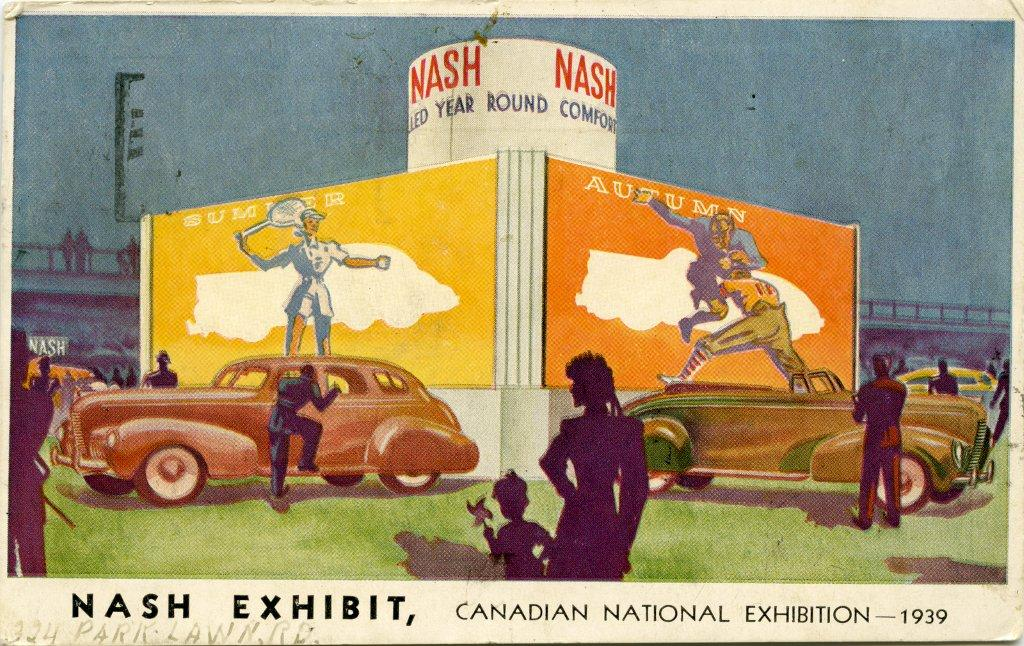 Post Card For Nash Car Exhibit @ The 1939 CNE
