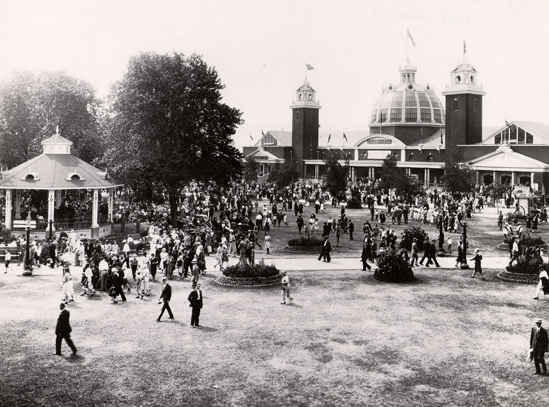Government Building  and  Band Stand, 1930