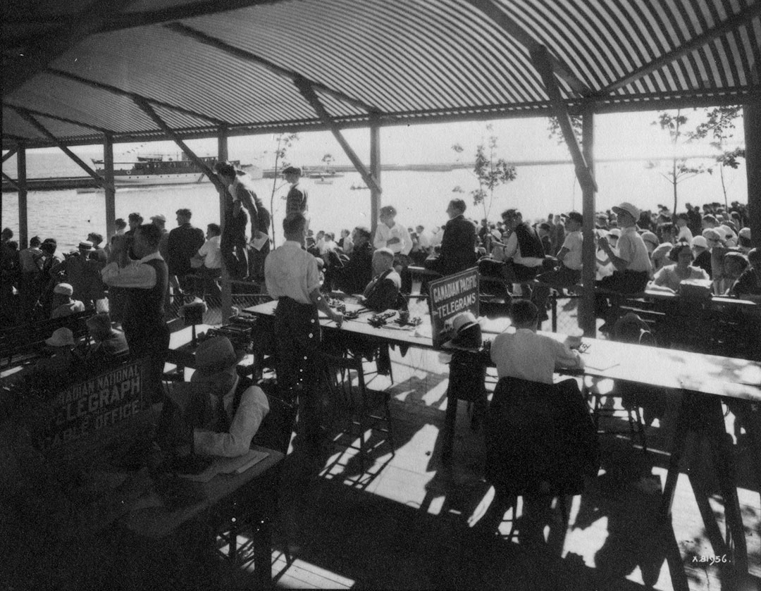 Press Tent At CNE Waterfront, 1934