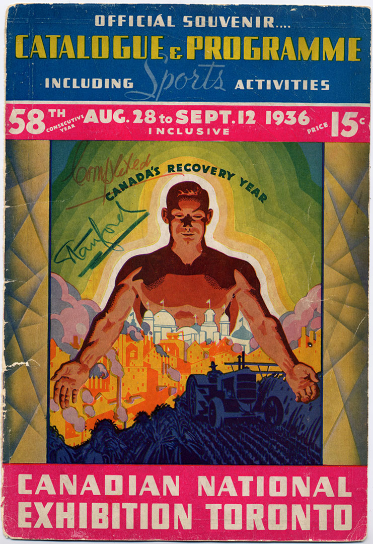 CNE Programme Cover, 1936